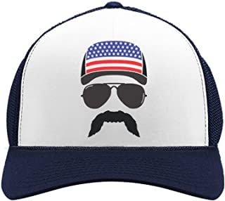 Tstars American Flag Cap hat - Cool 4th of July Merica USA Trucker Hat Mesh Cap