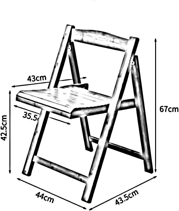 HAOHAO Chaise Pliante Accueil Chaise Chaise Pliante Fauteuil de Bureau Portable Tabouret en Bois (Color : 2) 2