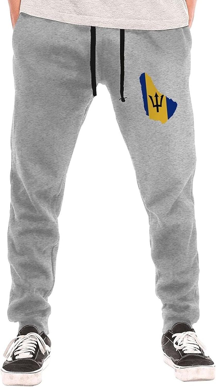 Barbados Flag1 Men's Long Financial sales sale P Jogging Outlet SALE Sweatpants Lightweight