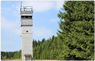 LESGAULEST Doormat Floor Rug/Mat (23.6 x 15.7 inch) - Tower Border DDR Resin History Guard Watchtower