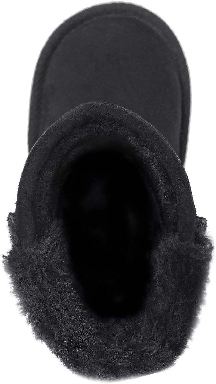 FITORY Botas Antideslizantes Beb/é Ni/ña Bot/ón Botas de Nieve Calentar Zapatos Invierno Talla 20.5-31