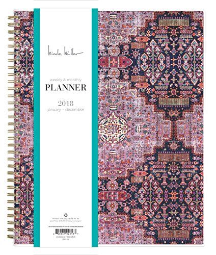 "Nicole Miller for Blue Sky 2018 Weekly & Monthly Planner, Twin-Wire Binding, 8.5"" x 11"", Heirloom"