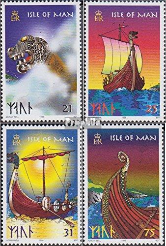 Prophila Collection GB - Insel Man 753-756 (kompl.Ausg.) 1998 Wikingerboot (Briefmarken für Sammler) Seefahrt