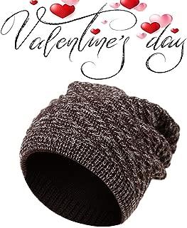 La Dearchuu Men Winter Skully Hat Slouchy Beanie Warm Knit Beanie Cap Thermal Baggy Beanie Skiing Hat