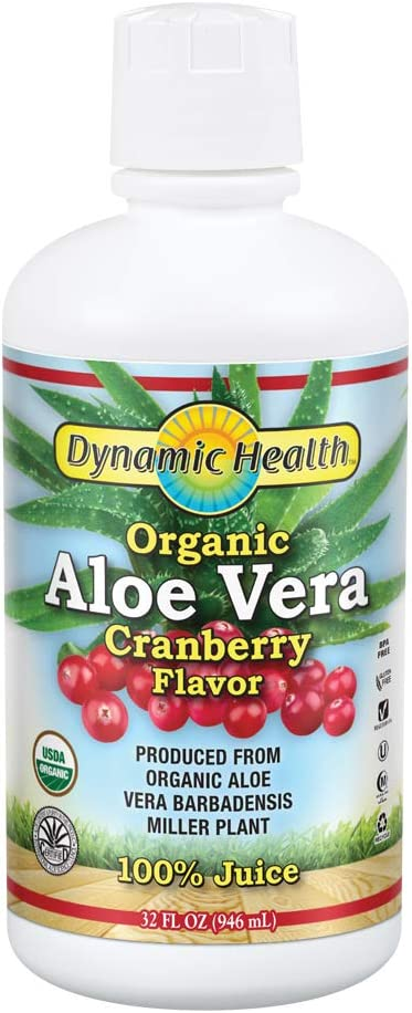 Dynamic Health Organic Aloe Vera Ranking TOP13 Shipping included Cranberry Juice Flavor No Ad