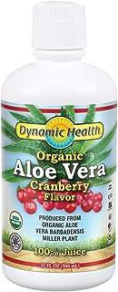 Dynamic Health Organic Aloe Vera with Cranberry Juice, 946 ml