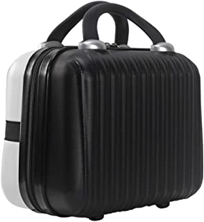 Hardside Travel Makeup Case On-The-Go Girl Retro Case Professional Cosmetic Organizer 12 Inch ABS Carrying Suitcase