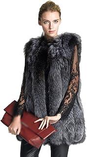 LvRao Women Fluffy Faux Fur Gilet Vest Winter Warm Waistcoat Sleeveless Jacket Coat