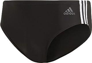 adidas Men's Fitness 3-Stripes Swim Trunks, Black/White