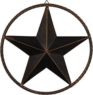 """Best EBEI Barn Metal Star Wall Decor 17"""" Vintage Texas Lone Circled Star Western Home Wall Decor Review"""