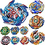 BaiYunPOY Gyros 10 Pieces Pack, Battling Top Battle Burst High Performance Set, Best Toys Gift for Boys Kids Children