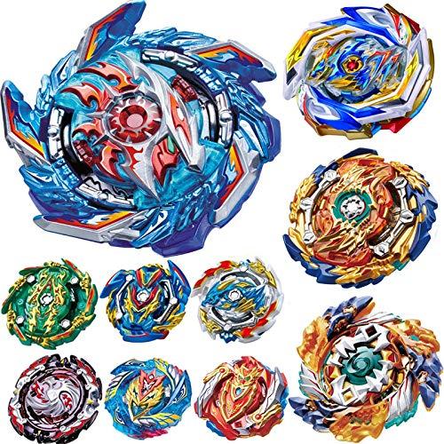 BaiYunPOY Gyros 10 Pieces Pack, Battling Top Battle Burst High Performance Set, Best Toys Gift for Boys Kids Children