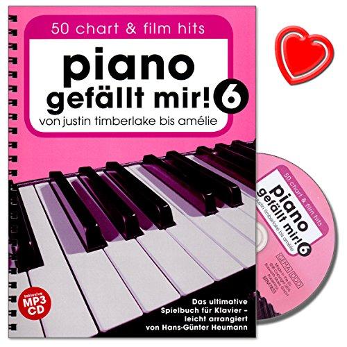 Piano bevalt mij! 50 chart en film hits - Band 6 - Het ultieme speelboek voor piano met CD en kleurrijke hartvormige muziekklem