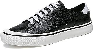 DADIJIER Zapatillas de Deporte de Moda para Hombres Zapatos Deportivos Deportivos Cordones de Microfibra de Cuero Transpir...