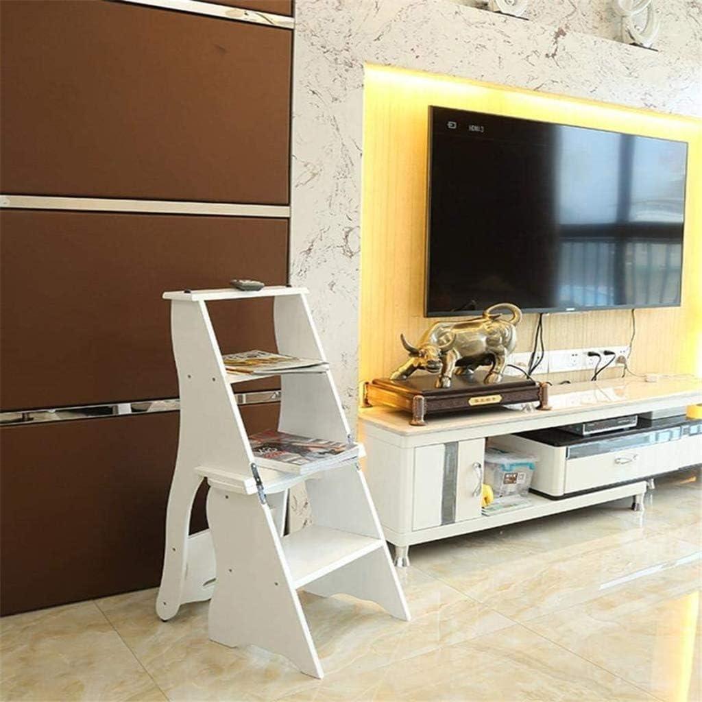 Dengzi Échelle Tabouret/Chaises Sièges arrière Stairs Tabouret de 4 étages Fold étagère, Hauteur des échelles de 86cm (Couleur: B) /Multifonctionnel Chaise D'escalier (Color : C) A