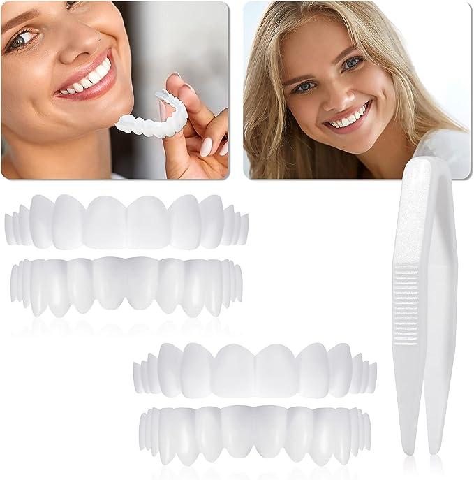11 opinioni per 2 Pezzi Dentiere a Faccette Istantanee Denti Finti Denti per Protesi a Sorriso