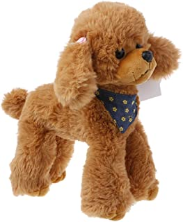 Jesse Poodle Plush Toy, 9.84 x 7.87 inch, Cute Soft Stuffed Animal Doll Sofa Bed Decoration Baby Hand Toy Gift for Kids Girls Boys (Brown)