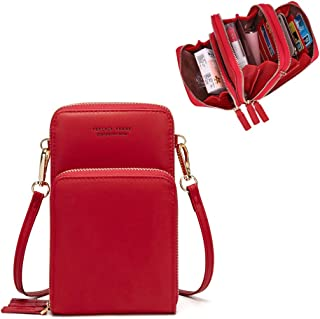 Myfriday Small Crossbody Cellphone Shoulder Bags for Women,Smartphone Wallet Purse with Removable Shoulder Strap