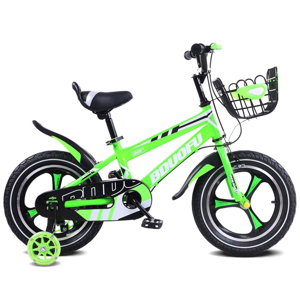 QARYYQ Bicicleta for niños 12/14/16 Pulgadas Cochecito de bebé 2-5-8 años Niño Pedal de Tres Ruedas Bicicleta Verde Bicicleta para niños (Size : 14 Inches): Amazon.es: Hogar