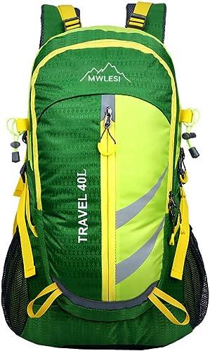YNNB 40L Sac à Dos De Randonnée, Multi-Fonctionnel Décontracté Trekking Sac à Dos Ordinateur portable Sac à Dos étanche pour Randonnée Camping Voyager à L'extérieur Sport,vert