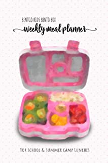 BENTGO KIDS BENTO BOX - Weekly meal planner for school and summer camp lunches: This lunch journal is the perfect tool to create yummy snacks and ... Notes PDF + Grocery list interactive PDF