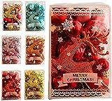 MEETGG Bola de Navidad, Decoraciones de Navidad, alfombras Paquete de Regalo talón Conjunto de decoración de Las Ventanas de Navidad, Bolas pintadas 30, Colgando del árbol de Navidad, 6,1