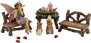 PRETMANNS Fairy Garden Fairy Accessories – Miniature Fairy Figurine & Furniture – Fairy Garden Supplies 14 Pieces