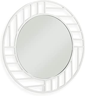 Now House by Jonathan Adler Grid Wall Mirror, White