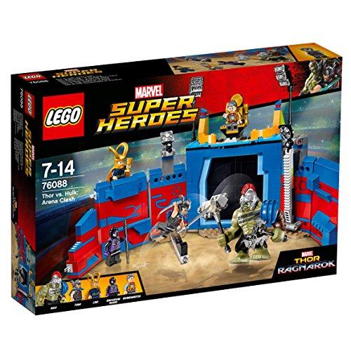 LEGO Super Heroes - Lucha por la Libertad en la Arena con Hulk y Thor, 1 Unida, Modelos / Colores Surtidos (76088)