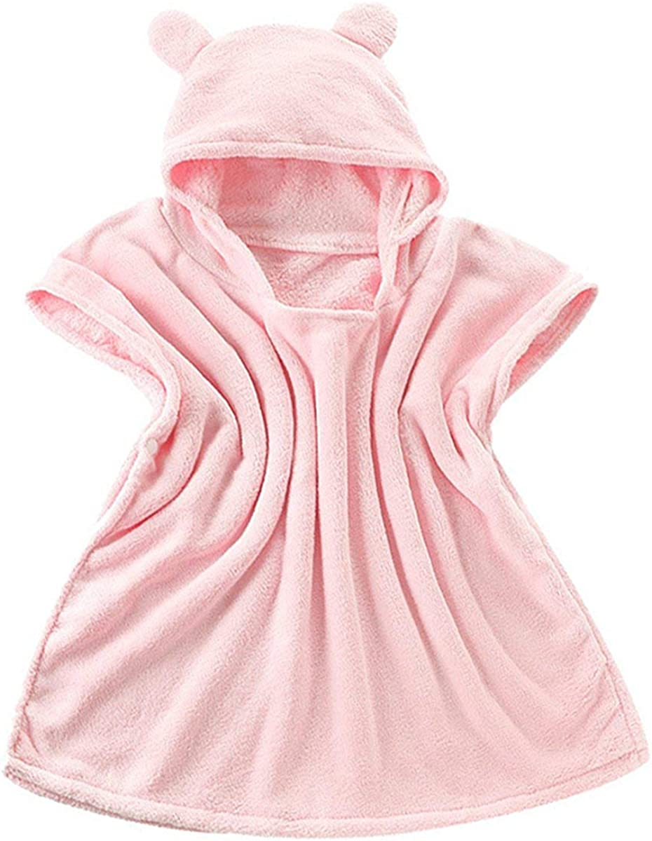 Ameyda Hooded Towel Bath Poncho for Kids 0-6 Years