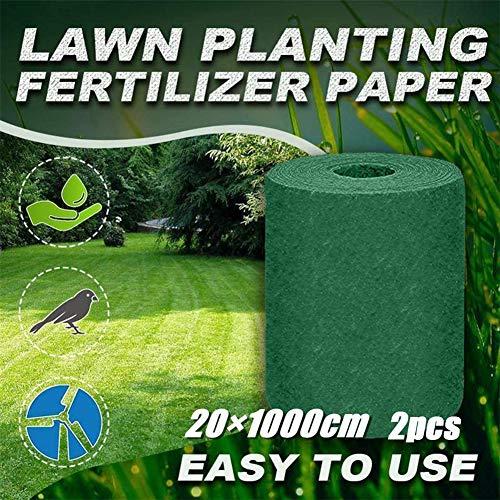 Manta de Fertilizantes de Estera de Semillas de Césped, Césped Biodegradable Cultivo de Césped Estera de Germinación de Siembra Para Picnic de Jardín, Hidratación, Sombreado, Aislamiento Térmico,