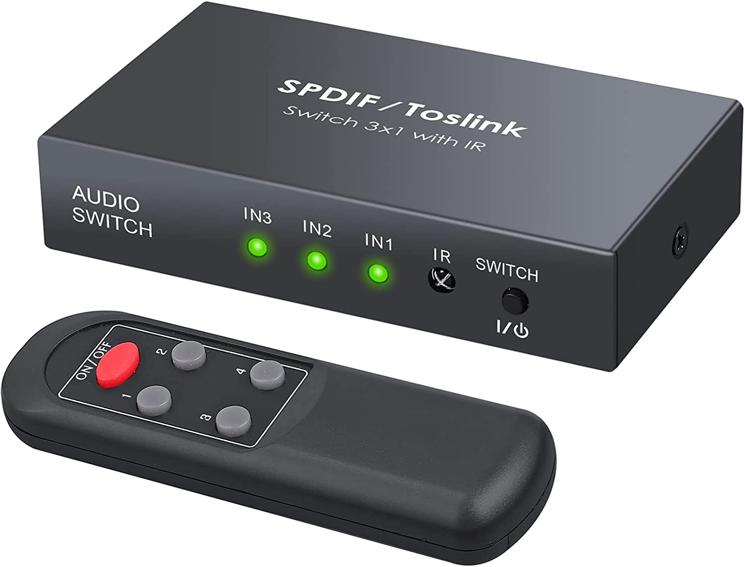 LiNKFOR Digital Toslink Optical 3x1 Max 70% Max 43% OFF OFF 3ft with Cabl Switch