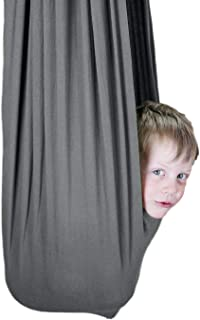 SENSORY4U Indoor Therapy Swing for Kids with Special Needs (Hardware Included) Snuggle Swing | Cuddle Hammock for Children with Autism, ADHD, Aspergers | Great for Sensory Integration (Gray Color)
