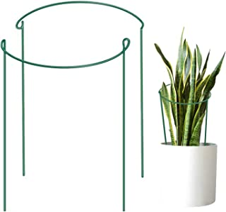 Feitore Metal Garden Plant Supports, 2 Pcs Half Round Plant Support Ring Hoops, Garden Border Supports for Peonies, Roses, Hydrangea (9.8