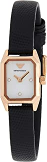 Emporio Armani Women's White Dial Stainless Steel Analog Watch - AR11248, Rose Gold