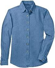 ladies plus size denim shirt