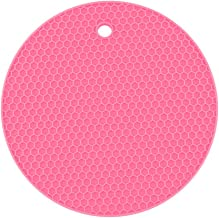 Yardwe Silicone Pot Holders Heat Resistant Non-slip Trivet Mats Hot Pads Multipurpose Trivet For Home Use (Rosy)