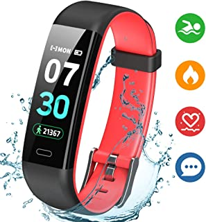K-berho Fitness Tracker,Activity Tracker with Heart Rate Monitor,Step Counter Watch, Sleep Monitor Tracker,Pedometer Watch,Calorie Counter Watch Waterproof,Smart Watch for iOS and Android