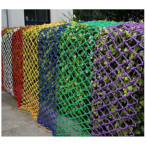 Anquanwang Balkon anti-val net Kleur Decoratief Net, Outdoor Klimnet Beschermingsnet, Kinderveiligheidsnet, Kat Net, Trap, Balkon Bescherming Netto Trampoline Netto Hangmat Swing Net 10mm / 8cm