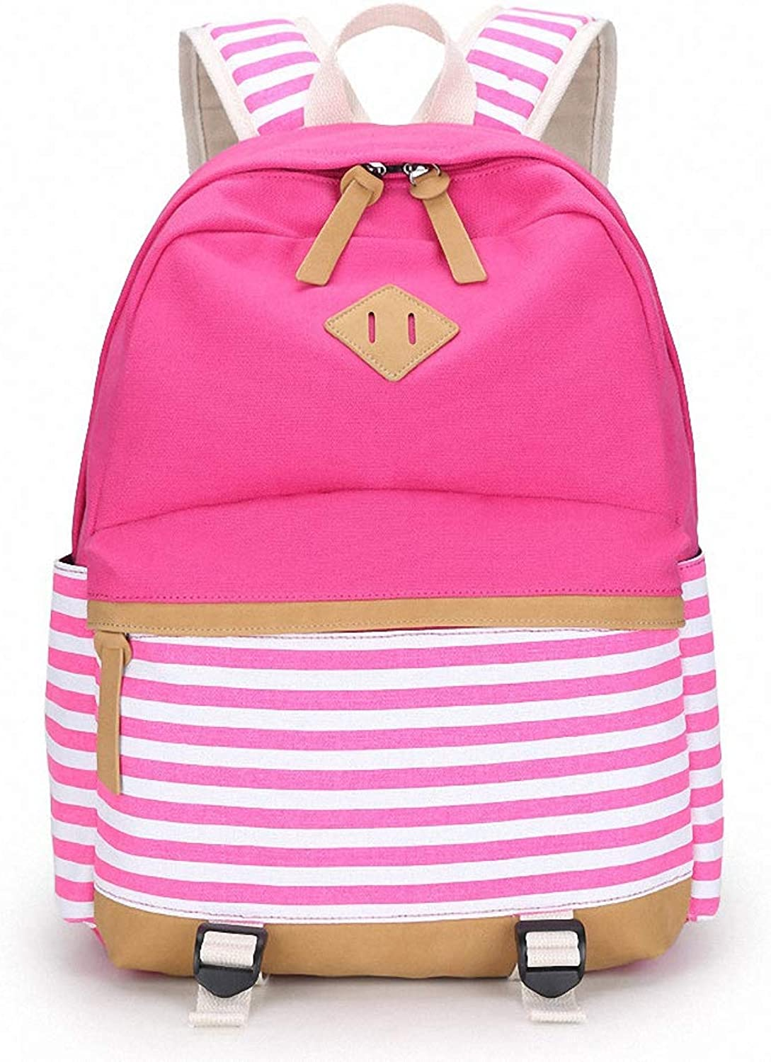 Womens College Striped Women Backpack Daily Book Bags Fringe Bagpack 15.6 inch Computer Student Bag for Teenagers Girls
