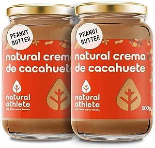 comprar comparacion Crema de Cacahuete Natural Athlete 100% Cacahuete Sin Azúcar, Vegana, Sin Gluten, Sin Lactosa -Pack 2x500 g