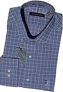13797183f Tommy Hilfiger Men's Non Iron Regular Fit Spread Collar Dress Shirt (XL  17-17.5