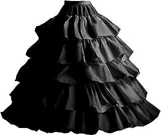 Edith qi Wedding Ball Gown Petticoat 4-Hoop Crinoline Underskirt Evening Party Dress