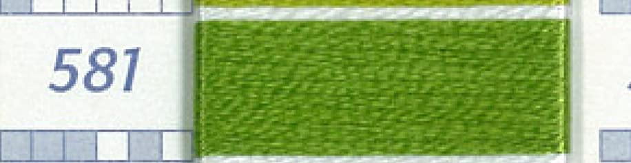 DMC FLOSS-COLOR 581-MEDIUM GREEN