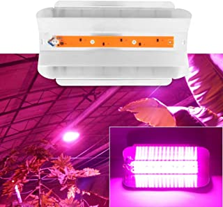 Delaman Grow Light Plantas de Interior COB LED Growing Light Full Spectrum Planta Lámpara de Cultivo para Plantas Flor Vegetales (Capacidad : 80W)