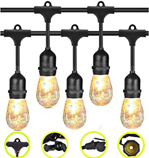 LEDストリングライト 12電球 10m [DanYee一年間保証] 防水・防塵 PSE認証取得 10個 電球色 LED ストリングライト (ストリングライト ソケット10個 12電球)
