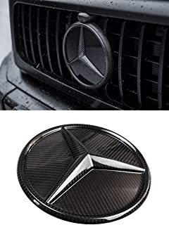 G Wagon 2019 style - Grille Badge Carbon Fiber Logo Grill Emblem for Mercedes Benz G Class W464 W463A 2018 2019 +