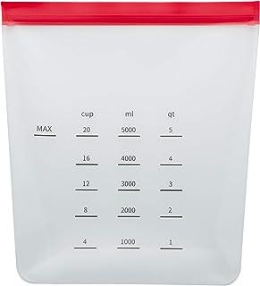 Chef Select Reusable Food Storage & Marinade Bag, 1-Gallon Size, Standing, Food Grade Silicone, BPA Free, Great for Marina...