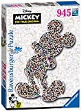 Ravensburger- Puzzle Shaped Mickey, Colore Giallo, 16099