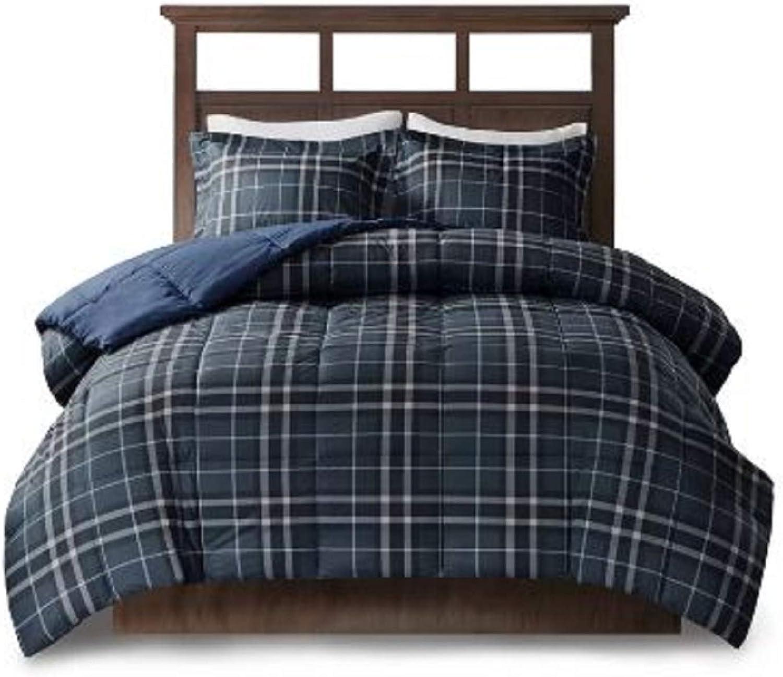 Printed Fashionable Comforter Bedding Set. Flint Hypoallergenic CozySpun Down Alternative Printed Fashionable Comforter Bedding Set Lint Free Non-Pilling 1 Pillow Shams Included (Twin)